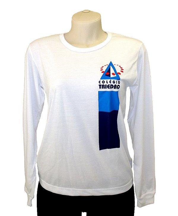 Camiseta Escolar Manga Longa - TRIEDRO - Adulto e Infantil