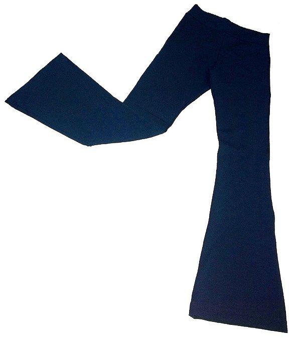 Calça Flare - Azul Marinho - Triedro
