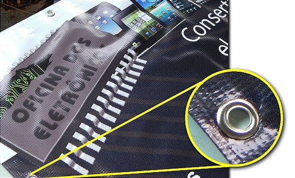 1 Banner 700x1200mm Lona Especial - 340g - 4x0 Com Ilhós