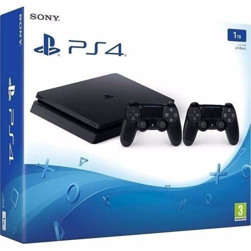 Playstation 4 Slim 2115A 1 TB c/ 2 Controles