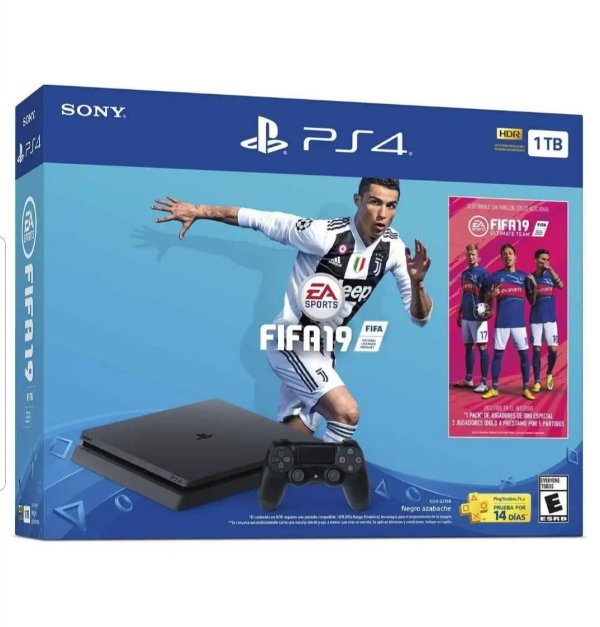 Playstation 4 1 Tb 2215B com Fifa 19