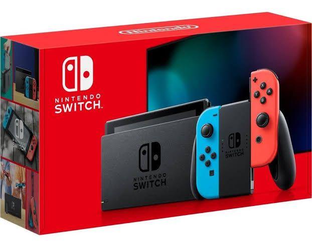 Nintendo Switch Azul e Vermelho Neon 32 gb