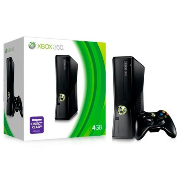 Xbox 360 Slim 4 Gb + HDMI + 1 Controle - Destrav LTU 3.0 + jogos