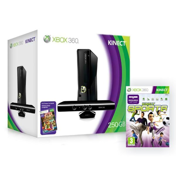 Xbox 360 Slim 4 Gb + HDMI + 2 Controles + Kinect - Destrav LTU 3.0