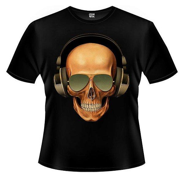 Camiseta Caveira Fone