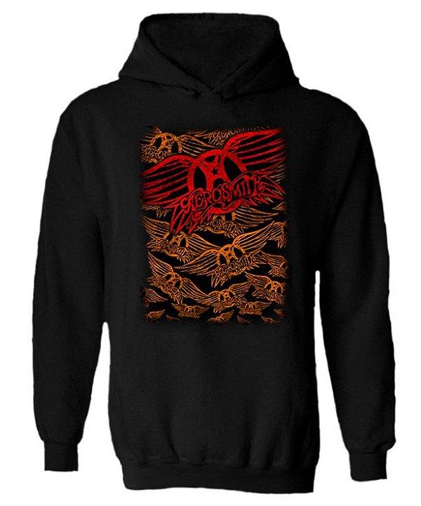 Blusa de Moletom com Capuz Aerosmith - Logo