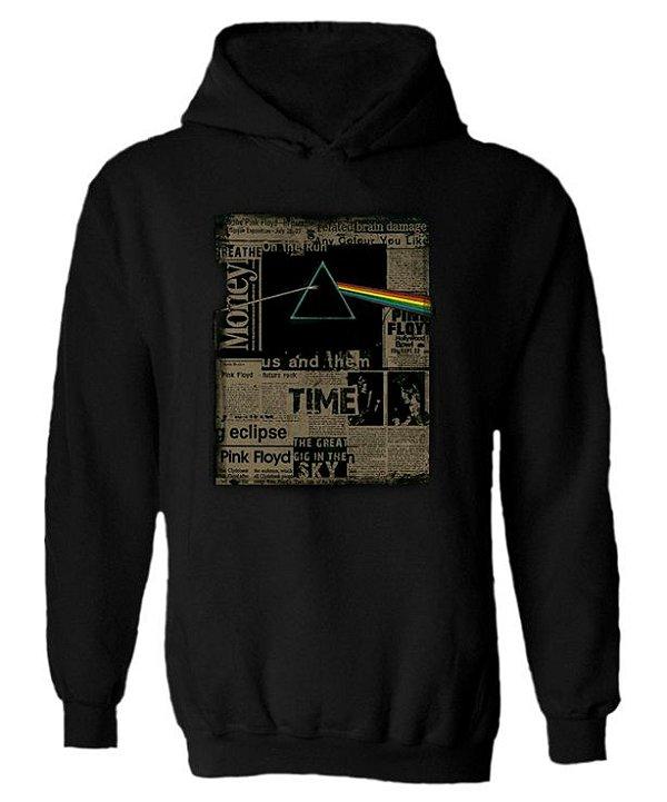 Blusa de Moletom com Capuz Pink Floyd - Jornal