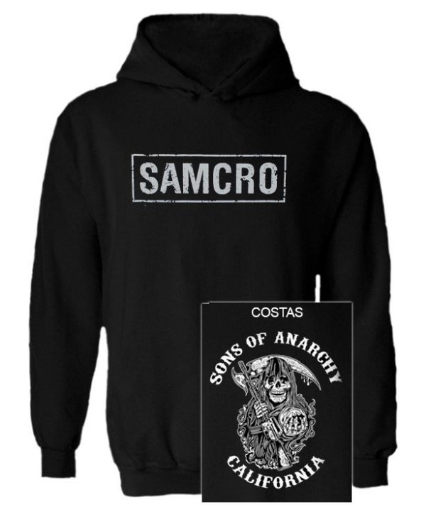 Blusa de Moletom com Capuz Sons of Anarchy - SAMCRO