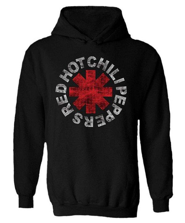 Blusa de Moletom com Capuz Red Hot Chili Peppers