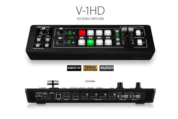 SWITCHER DE VIDEO ROLAND V-1HD PROT (4 CANAIS) - GARANTIA DE 01 ANO ROLAND