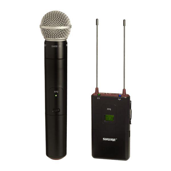Microfone de mão sem fio FP25/SM58  - Shure