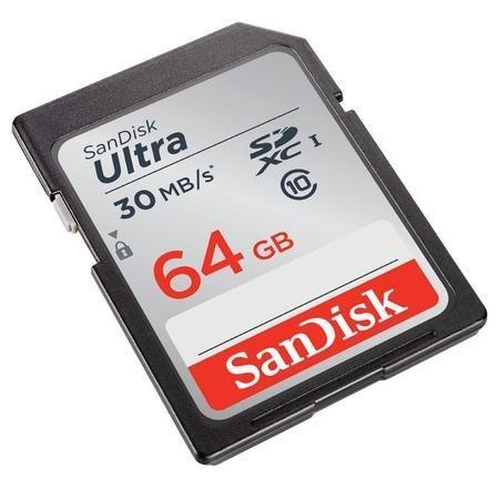 Cartão de memória 64GB SDXC Ultra 30MB/S 200X - Sandisk