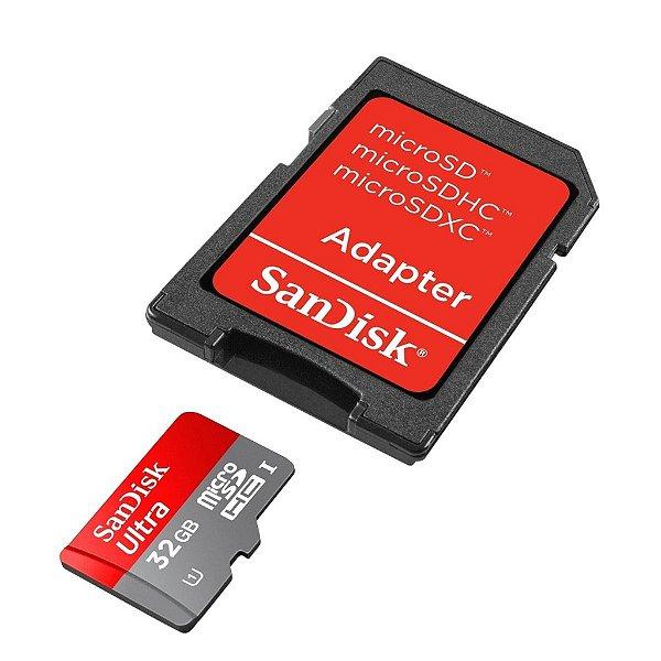 Cartão Micro SDHC 32GB Ultra SD Classe 10 - Sandisk