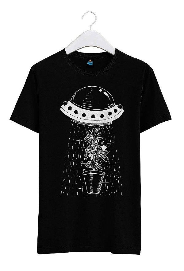 Camiseta Estampada Cannabis Sativa