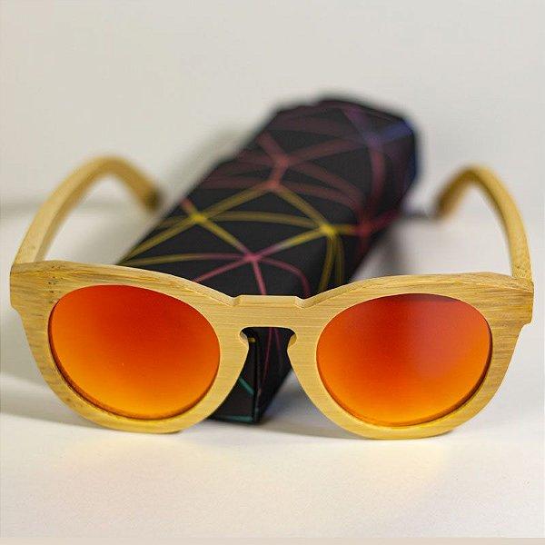 Óculos de Sol de Madeira Retrô Ibis Escarlate