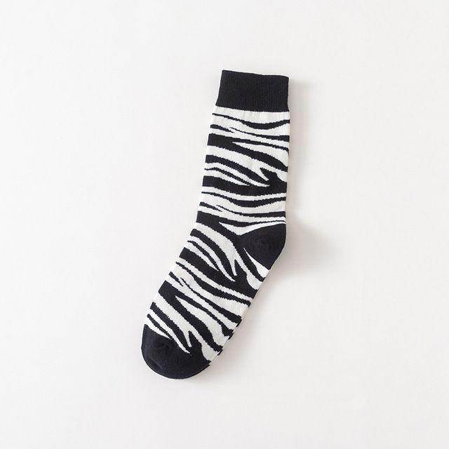 Meia Divertida Zebra