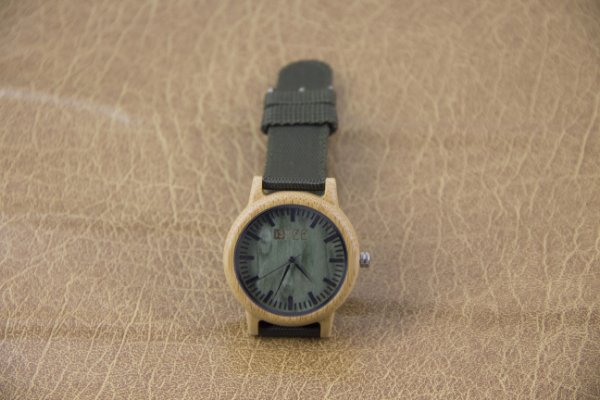 Wooden Watch Bambu Dark Green
