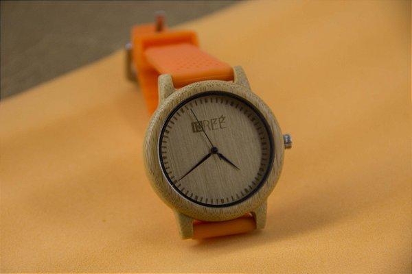 Wooden Watch Orange