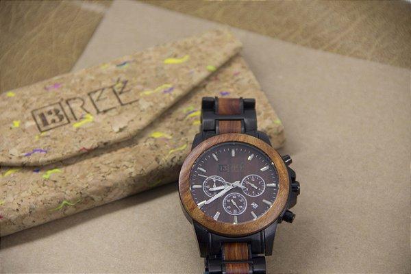 Wooden Watch Brown/Black