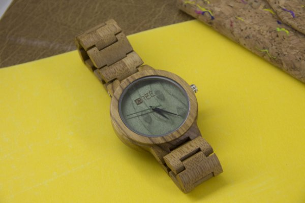 Wooden Watch Light Green