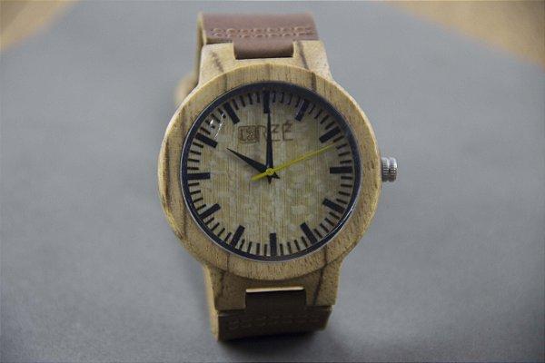 Wooden Watch Beige/Brown
