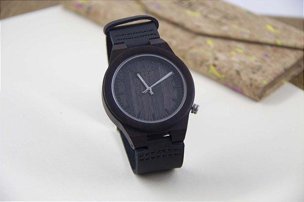 Wooden Watch Black/Brown