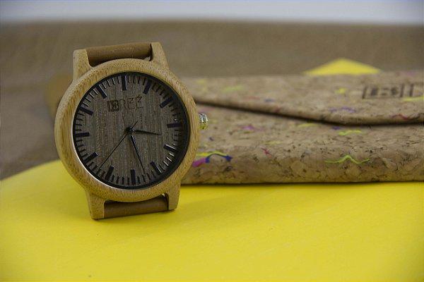 Wooden Watch Black Lines