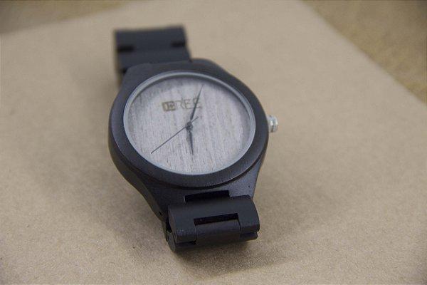 Wooden Watch Black Light Beige