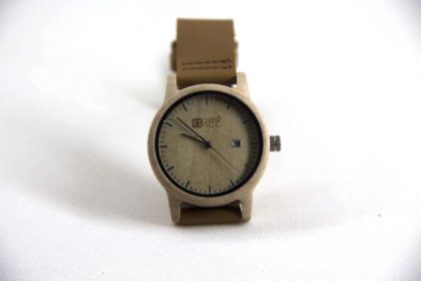 Wooden Watch Bambu Beige/Brown