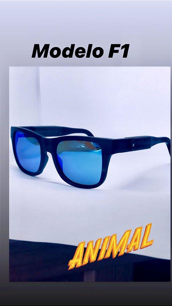 F1 espelhado azul