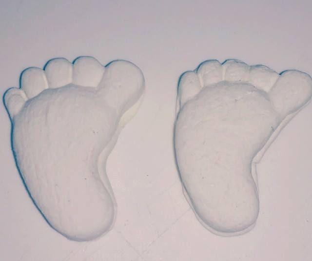 Bala de coco de pé de bebê