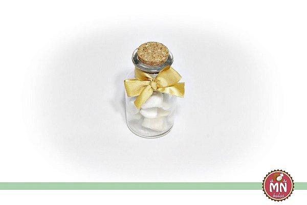 Garrafinha de 50 ml com rolha com mini bala de coco