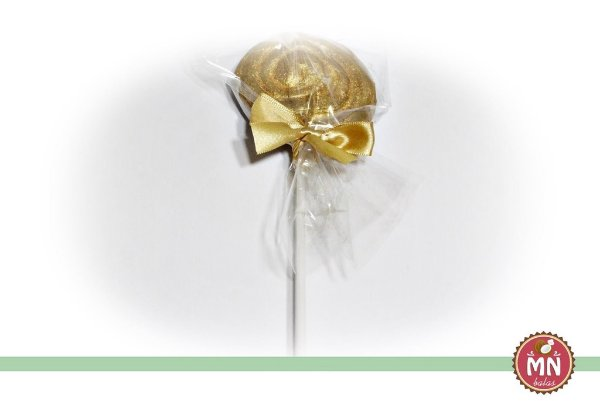 Pirulito de Bala de Coco Tradicional Dourado ou Prateado