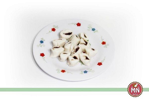 Bala de Coco Tradicional com Recheio de Nutella