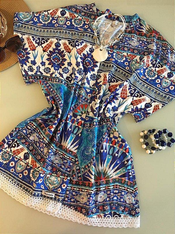 Kimono azul Tribau
