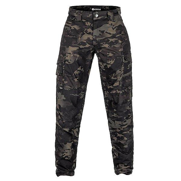 Calça Militar Tática Guardian Camuflada Multicam Black Forcas Especiais Invictus
