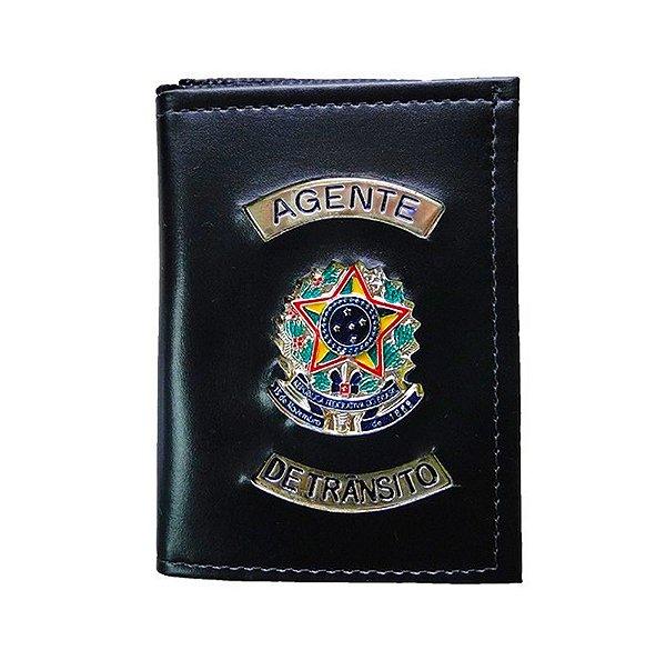 Carteira Militar Agente De Trânsito Com Porta Funcional