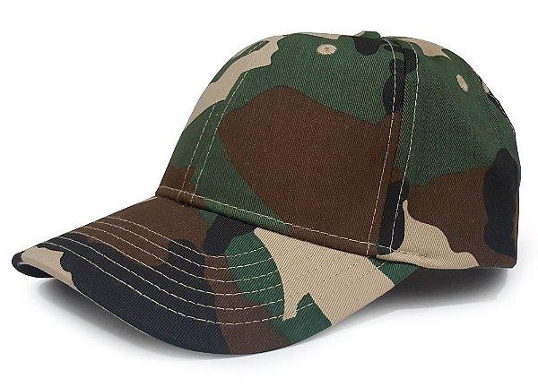 71a97611330f8 Boné Militar Camuflado Woodland clássico Team Six - Camisetas ...