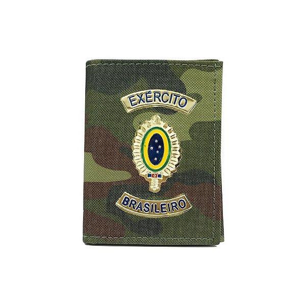 Carteira Exército Brasileiro Camuflada com Porta Funcional