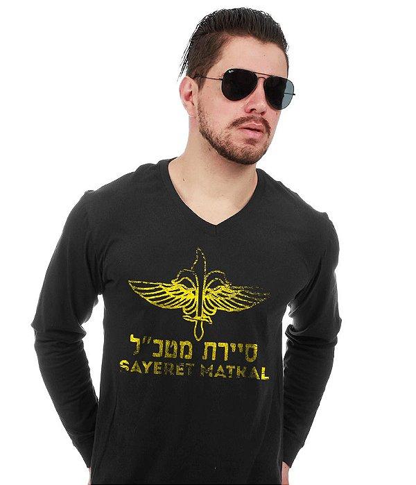 Camiseta Manga Longa Sayeret Matkal Israel Defence