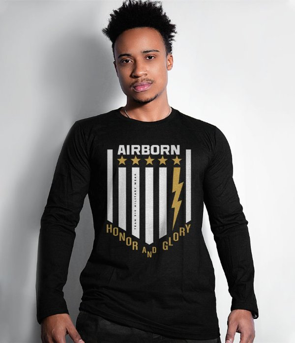 Camiseta Manga Longa AirBorn Honor and Glory