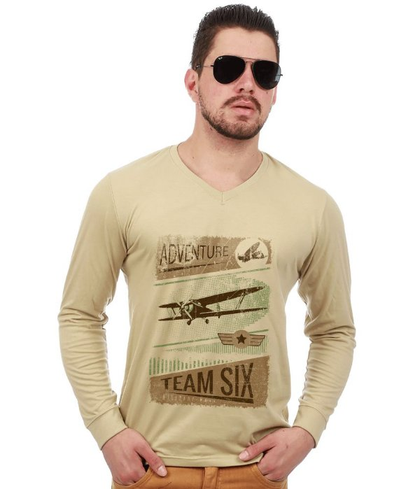 Camiseta Manga Longa Vintage Adventure Team Six