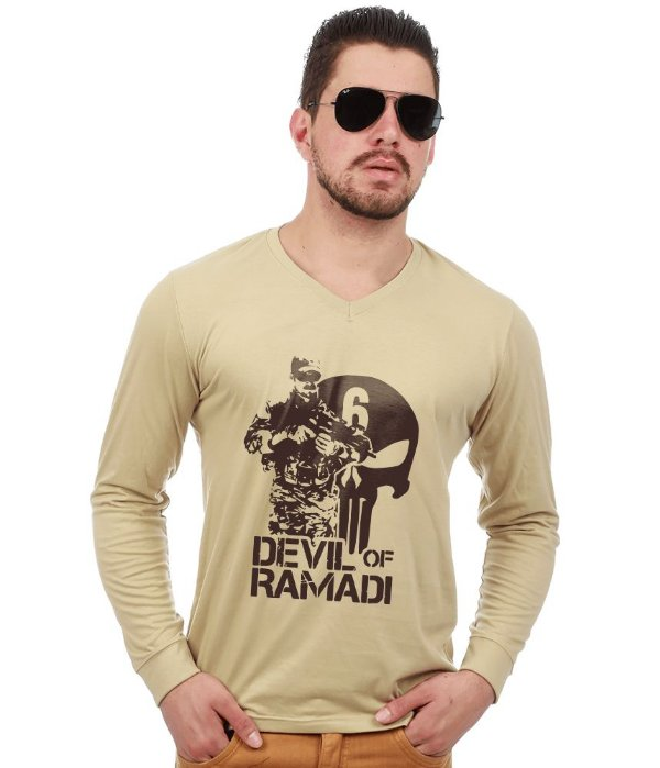 Camiseta Manga Longa Devil Of Ramadi Tribute Chris Kyle