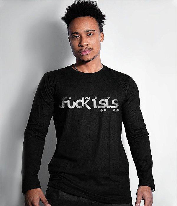 Camiseta Militar Manga Longa Fuck Isis