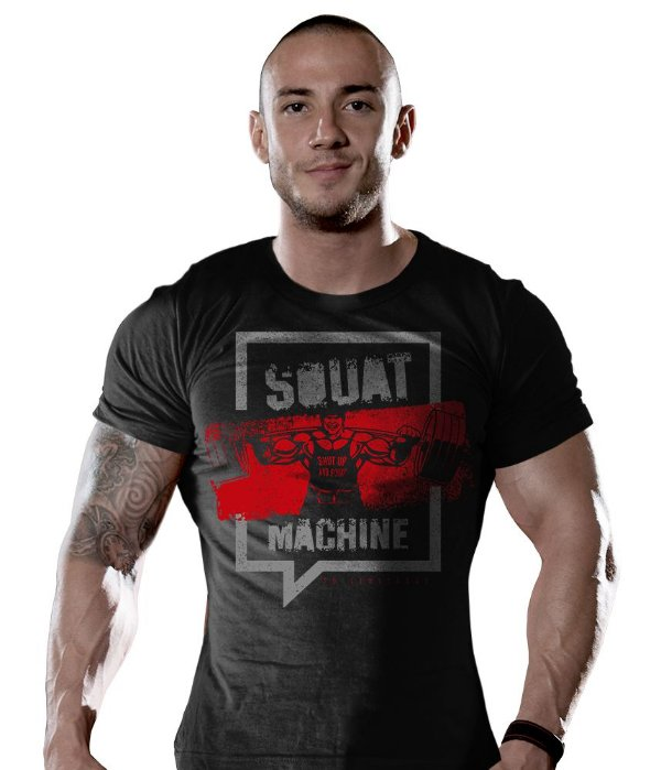 Camiseta Academia Squat Machine