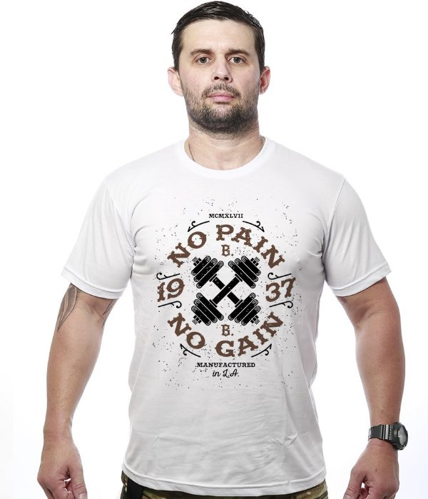 Camiseta Academia Iron No Pain No Gain