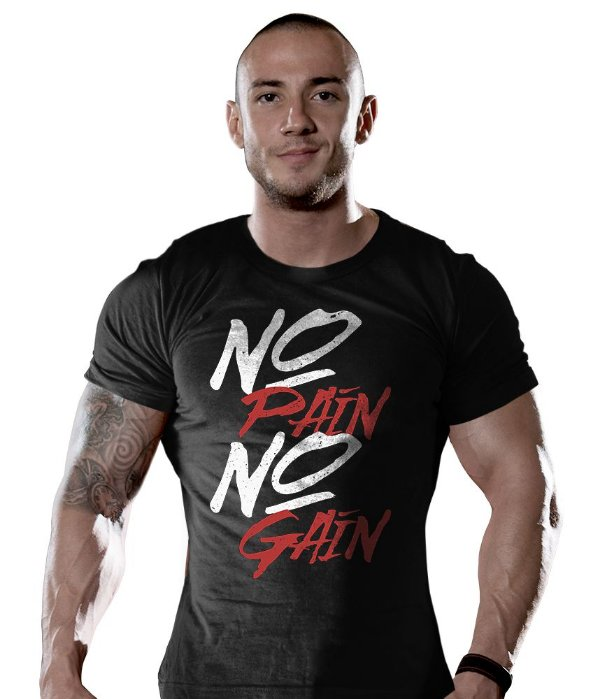 Camiseta Academia No Pain No Gain