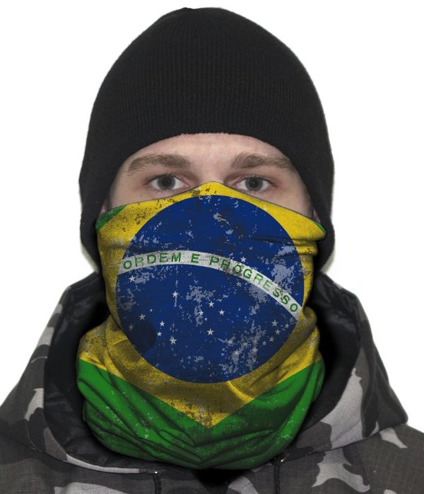 Face Armor Bandeira do Brasil Team Six