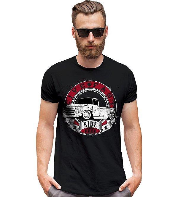 Camiseta Old Car Pickup Live Fast