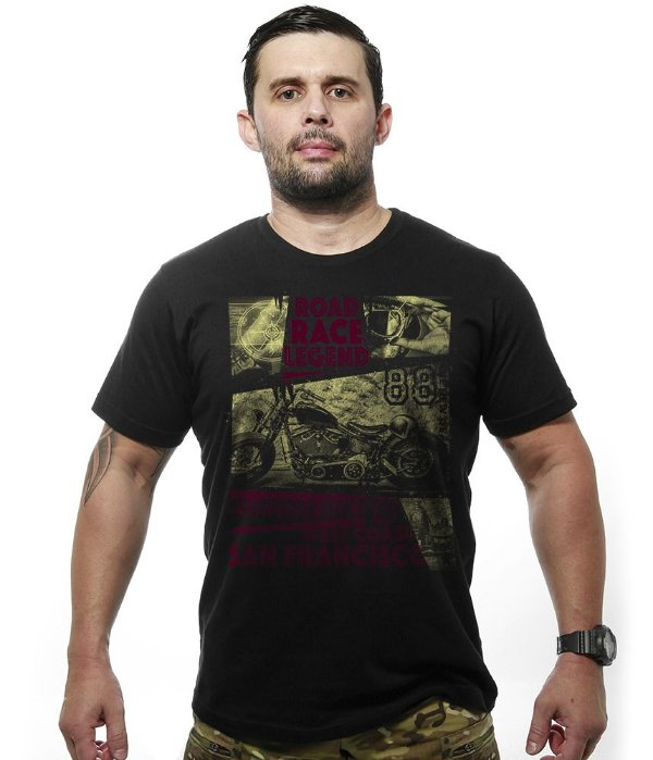 Camiseta Motorcycle T6 Old School Race Legend
